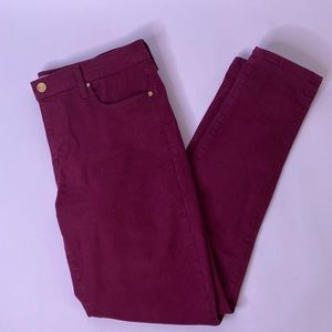 Gap 1969 True Skinny Cranberry Jeans, 29